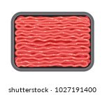 vector minced meat in plastic... | Shutterstock .eps vector #1027191400