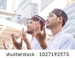 group of young muslim man and...   Shutterstock . vector #1027192573