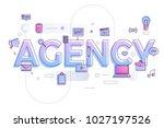 "flat design typography concept ""... | Shutterstock .eps vector #1027197526"