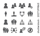 people icon set | Shutterstock .eps vector #1027199863