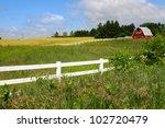 Scenic Farm Landscape With Barn