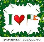 vector saint patricks day card .... | Shutterstock .eps vector #1027206790