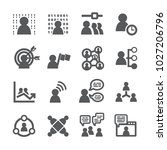 business people icon set | Shutterstock .eps vector #1027206796
