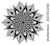 mandalas for coloring book.... | Shutterstock .eps vector #1027211230