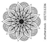 mandalas for coloring book.... | Shutterstock .eps vector #1027211236