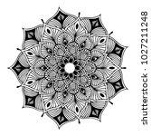 mandalas for coloring book.... | Shutterstock .eps vector #1027211248