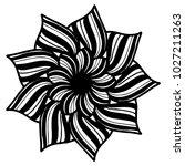 mandalas for coloring book.... | Shutterstock .eps vector #1027211263