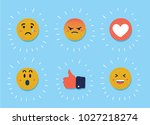 vector cartoon illustration of... | Shutterstock .eps vector #1027218274