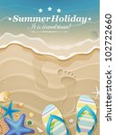 summer holiday background with... | Shutterstock .eps vector #102722660