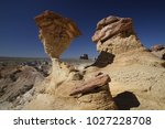 white hoodoos  chimney rock ... | Shutterstock . vector #1027228708
