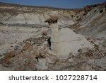 white hoodoos  chimney rock ... | Shutterstock . vector #1027228714
