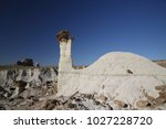 white hoodoos  chimney rock ... | Shutterstock . vector #1027228720