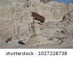 white hoodoos  chimney rock ... | Shutterstock . vector #1027228738