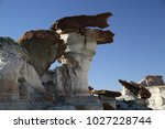 white hoodoos  chimney rock ... | Shutterstock . vector #1027228744