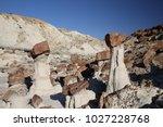 white hoodoos  chimney rock ... | Shutterstock . vector #1027228768