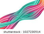 wavy abstraction in pink and... | Shutterstock .eps vector #1027230514
