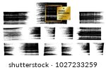 set of black ink vector stains | Shutterstock .eps vector #1027233259