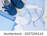 pregnancy test with positive...   Shutterstock . vector #1027234114