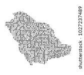 abstract schematic map of saudi ... | Shutterstock .eps vector #1027237489