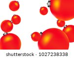 colored christmas balls pattern.... | Shutterstock .eps vector #1027238338