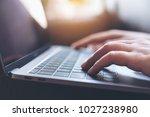 closeup image of hands working... | Shutterstock . vector #1027238980
