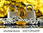 physical version of bitcoin ... | Shutterstock . vector #1027241659