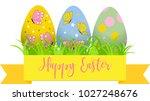 decorative easter eggs .easter... | Shutterstock .eps vector #1027248676