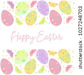 decorative easter eggs .easter... | Shutterstock .eps vector #1027248703