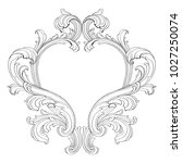 retro baroque decorations... | Shutterstock .eps vector #1027250074