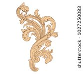 retro baroque decorations... | Shutterstock .eps vector #1027250083
