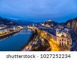 Salzburg City Skyline Aerial...