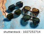 eyewear sun glasses photography  | Shutterstock . vector #1027252714