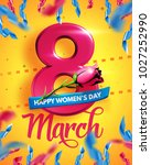 8 march. international women's... | Shutterstock .eps vector #1027252990