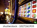 computer monitor of slot... | Shutterstock . vector #1027261933