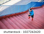 top view of an athletic man... | Shutterstock . vector #1027262620