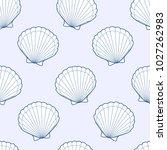 cute kids shell pattern for...   Shutterstock .eps vector #1027262983