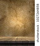 3d render of a wooden table...   Shutterstock . vector #1027264858