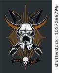 rock music poster with bull... | Shutterstock .eps vector #1027266796