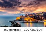 ulcinj old town fortress with... | Shutterstock . vector #1027267909