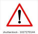 warning sign vector | Shutterstock .eps vector #1027270144