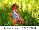 ukrainian doll motanka or rag... | Shutterstock . vector #1027270330