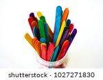 colorful ice cream sticks on...   Shutterstock . vector #1027271830