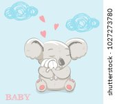 cute cartoon koala and rabbit | Shutterstock .eps vector #1027273780