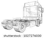 modern cargo truck isolated on... | Shutterstock .eps vector #1027276030