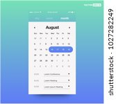 calendar app with to do list... | Shutterstock .eps vector #1027282249