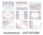 collection of holiday... | Shutterstock . vector #1027292584