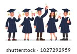 group of graduates students... | Shutterstock .eps vector #1027292959
