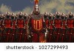 medieval knights warriors | Shutterstock . vector #1027299493