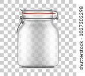 vector empty bale glass jar... | Shutterstock .eps vector #1027302298