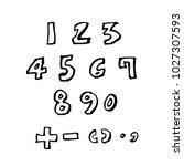 vector fonts   handwritten... | Shutterstock .eps vector #1027307593